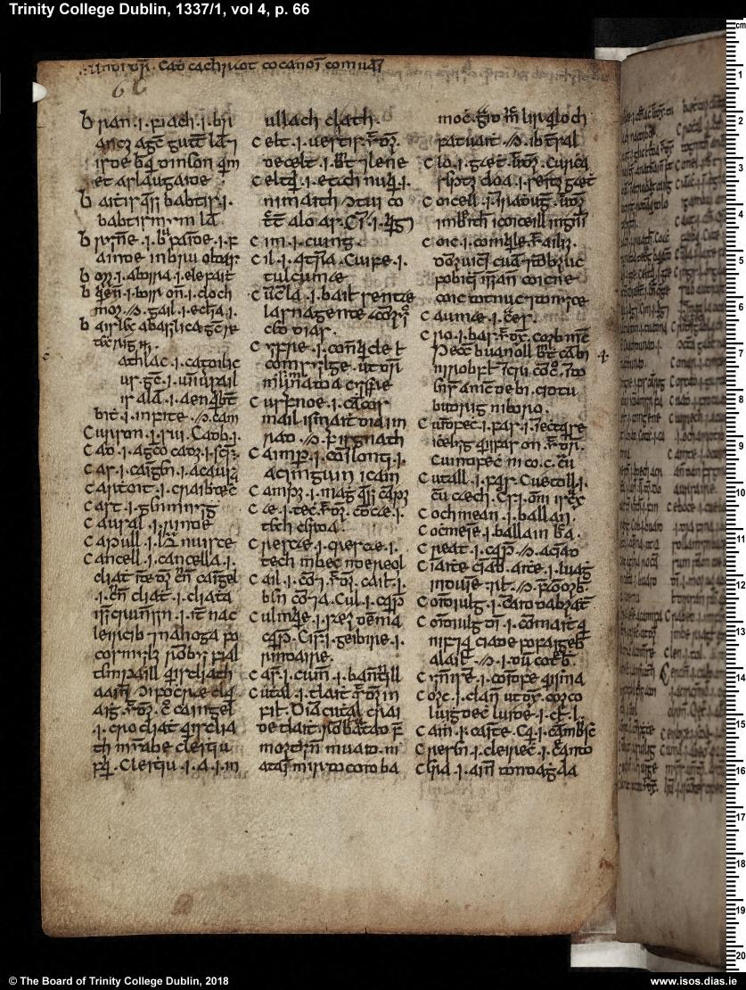 Dublin, Trinity College, MS 1337 (H.3.18), pp. 63–75