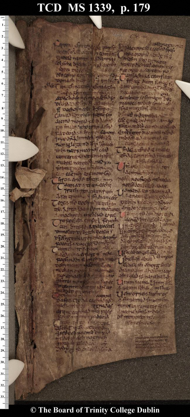 Book of Leinster (TCD, MS 1339 (H.2.18)), p. 179