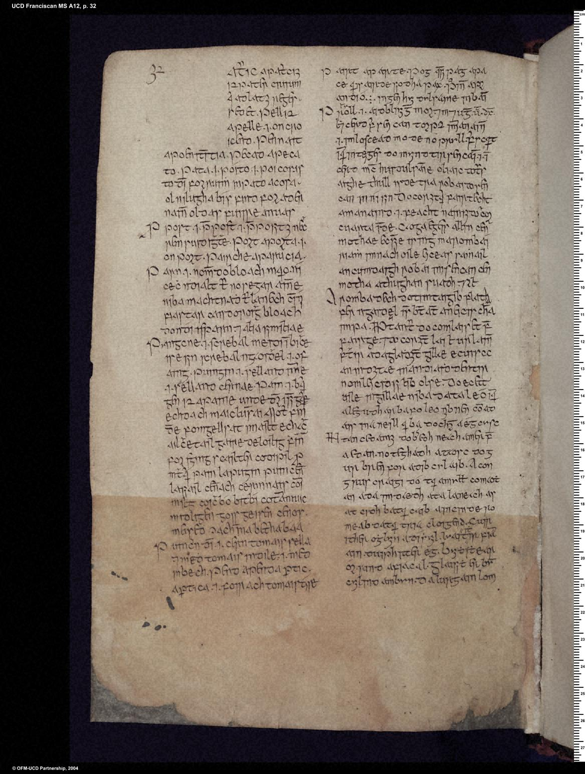 University College Dublin, Franciscan (Killiney) MS A 12, pp. 1–40